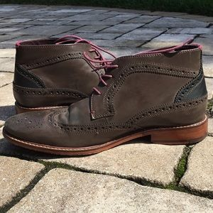 Ted Baker Brown Pericop Wingtip Chukka Boots